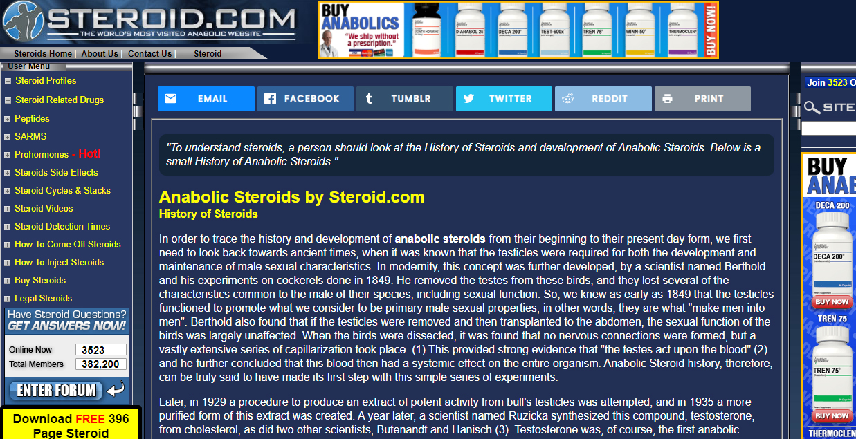 Steroid.com Bewertung